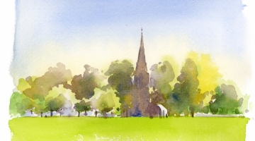 Christ Church Turnham Green - watercolour