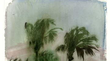 Storm in Barbados 2 - RWS exhibit - watercolour