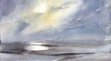 Whitstable eve 1- watercolour