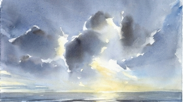 Whitstable late afternoon 3 - watercolour
